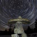 Star Trails and Inukshuk,                                Debra Ceravolo