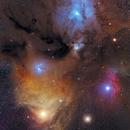 Rho Oph / Sco-Nebula Region 2-Panel Mosaic,                                Stefan Westphal