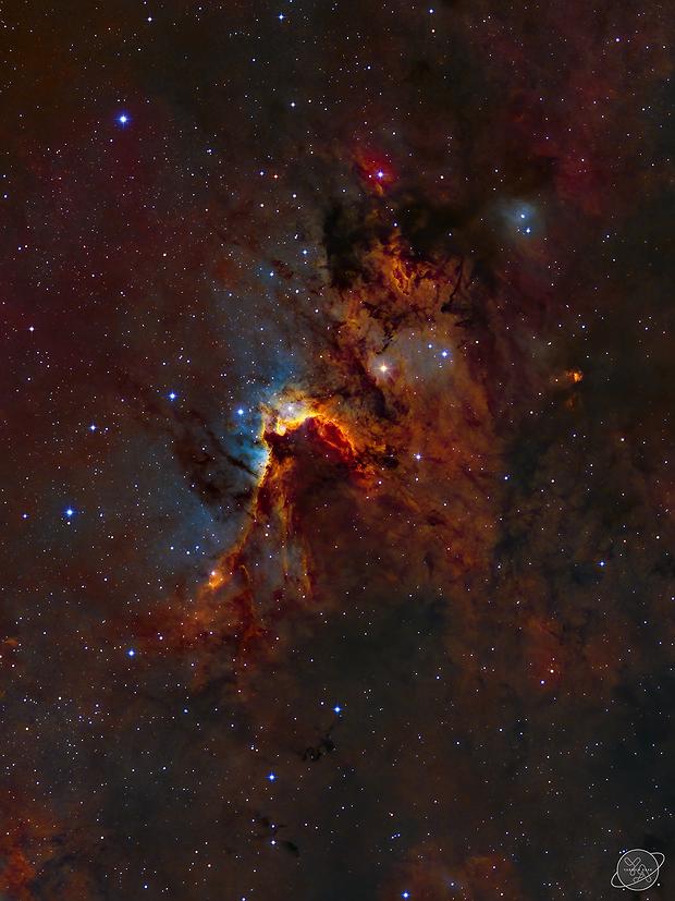 Sh2-155 - The Cave Nebula,                                Yannick Akar