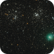 Double Cluster and Comet Hartley,                                mikefulb