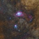 The Lagoon and Trifid nebula,                                Olga W. Ismael