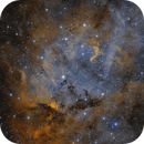 Wolf Rayet star WR153ab and Teutsch 127 in Sh2-132,                                Andrea Pistocchin...