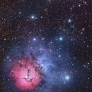 M20  Trifid Nebula RGB from Suburbia,                                Andy 01