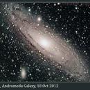 M31, Andromeda Galaxy, 18 Oct 2012,                                David Dearden