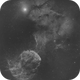 IC 443 / Sh2-248 / Jellyfish Nebula - IC 444 - 2-Panel Ha Mosaic,                                Falk Schiel