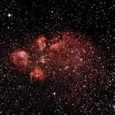 NGC6334 - Gum 64 - Cat's Paw or Bear Claw Nebula in Scorpius,                                Geoff Scott
