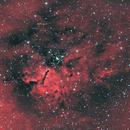 NGC6820 et NGC6823 - Ha-OIII-OIII,                                Daniel Fournier