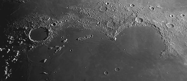 Plato, Montes Recti and Sinus Iridium,                                MAILLARD