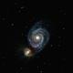 M51 Whirlpool-Galaxie Crop,                                Dieter Gattler