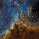 Dust lanes of the Heart Nebula - SHO,                                Thomas Richter
