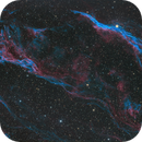 The Veil Nebula - The Witch's Broom and Pickerings Triangle - HOO w. RGB stars,                                JohnAdastra