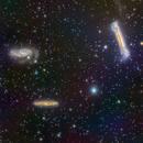 Leo Triplet (M65, M66 & NGC 3628),                                Miles Zhou