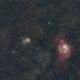Two-panel mosiac of M8, M20 and M21,                                petelaa
