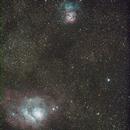 The Lagoon Nebula (M8, Starfest 2012),                                David Stephens