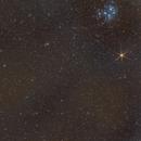 Wide field on Pleiades, Mars and Iades,                                Gianluca Galloni