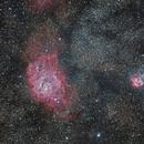 Trifid and Lagoon Nebulae,                                t-ara-fan