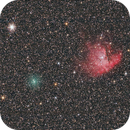 Comet 8P (Tuttle) passing NGC 281 on 23rd Dec 2007,                                Tony Cook