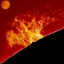 Hugh Solar Prominence August 15, 2021,                                Eric Coles (coles44)