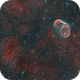 The Crescent Nebula (NGC6888) and the Soap-Bubble Nebula  in BiColour HaO3O3),                                Andreas Eleftheriou