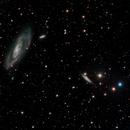 M106 Deep Sky West (DSW) in H-alpha with LRGB,                                jerryyyyy
