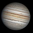 Jupiter and IO - 15/10/2021 C11 + ASI224MC,                                Le Mouellic Guillaume