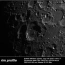MAUROLYCUS rim profile, just before the ray,                                umbarak