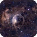 Bubble Nebula - NGC 7635 HA/RGB,                                Jim Matzger