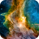 IC 1848, Soul Nebula, Narrowband Hubble Palette, Infrared Composite, Narrow-field Image,                                Eric Coles (coles44)