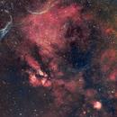 Pencil Nebula and surrounds,                                Gerard O'Born