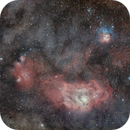 IC4685, Lagoon and Trifid Nebulae in Sagittarius,                                Luca Fumagalli