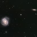 Messier 100 & NGC 4312,                                Loran Hughes