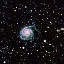 M101  The Pinwheel Galaxy unguided 90s subs,                                David Redwine