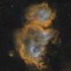 Nébuleuse de l âme , IC 1848 SHO,                                echosud