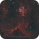 Close-up in Heart Nebula & Melotte 15 open cluster,                                Christophe Perroud