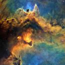 IC1848 - Heart of the Soul in HST palette,                                John Ebersole