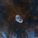 NGC 6888 Crescent Nebula Ha+Oiii Bicolour,                                Themis Karteris