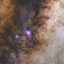 Lagoon & Trifid Nebulae Wide Field,                                Nathan Duncan