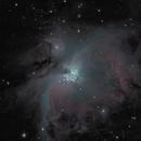 Orion Nebula (M42) and M43,                                JDJ