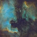 NGC 7000 & IC 5070 in SHO (Starless),                                Douglas J Struble