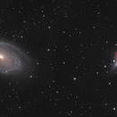 Messier 81 & Messier 82 in Ursa Major: Two Panel Mosaic – HaLRGB,                                Steve Milne