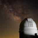 Milky Way + 3.5 meter telescope at Calar Alto ,                                Christian Dahm