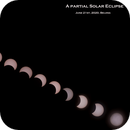A partial solar eclipse in Beijing, China,                                BO PENG(ISAAC)