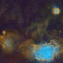 Sagittarius Mosaic - M8, M20 and IC4685 in HSO,                                Cfosterstars