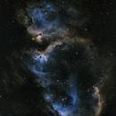Soul Nebula - IC 1848 in SHO (Traditional),                                nerdybeardo