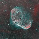 Crescent Nebula HOO,                                pedxing