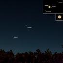 Jupiter & Saturn -- Nikon D3100 & 200 mm Telephoto lens,                                Nick Large