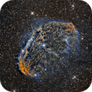 Crescent Nebula (NGC6888) close up in Hα/SII/OIII,                                Jose Carballada