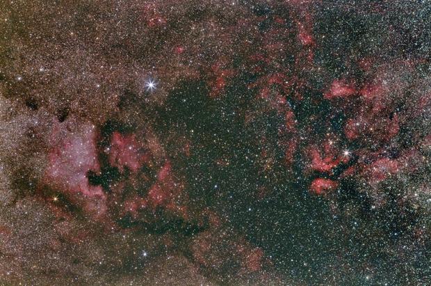 Nebulose a nord della costellazione del Cigno - Canon Central DS Cds 600d,                                Michele Bortolotti ed Erika Mocci