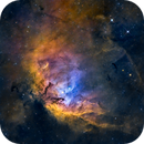 Tulip Nebula (Sh2-101) close-up in HSOrgb,                                Jose Carballada