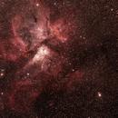 Caldwell 92 Eta Carinae Neblua with  NGC3324/IC2599 Gum 31 Galactic Nebula  (2x2 Mosaic),                                Geoff Scott